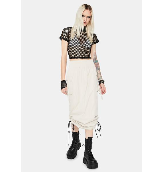 Steel Company Needed Cargo Midi Skirt