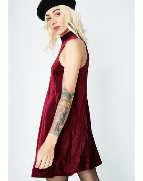 Dancing In Circles Velvet Dress
