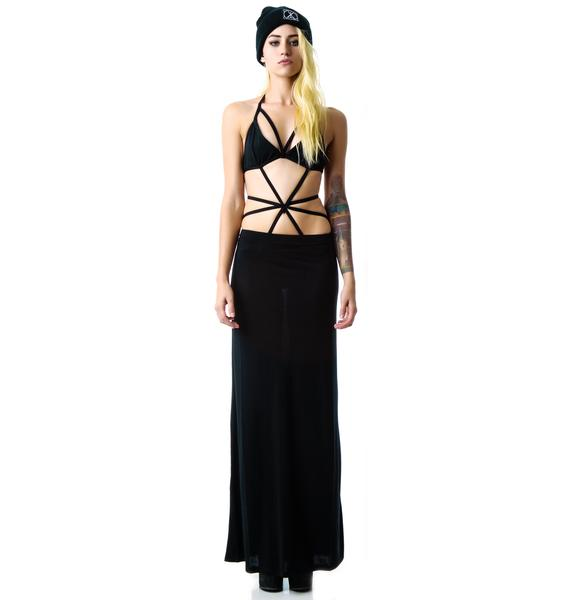 Queen of the Night Maxi Skirt