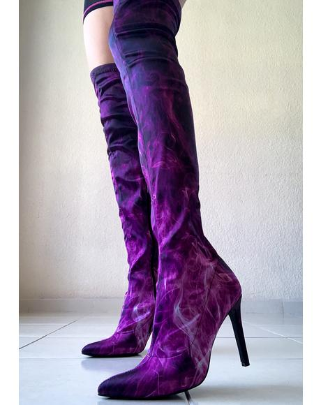 Burn Notice Thigh High Boots