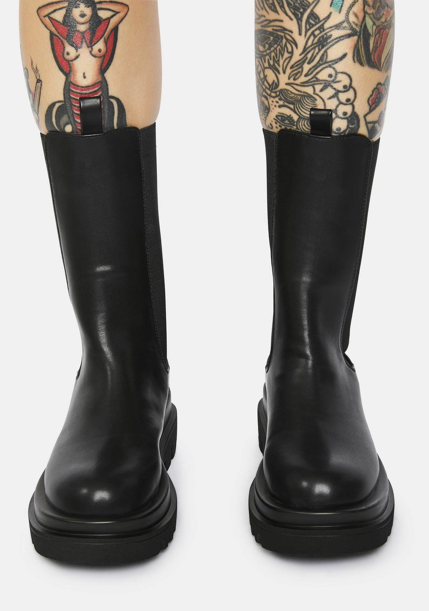 All My Life Faux Leather Ankle Boots
