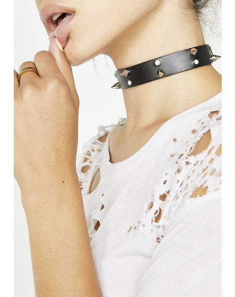 Stay Away Spike N' Sparkle Choker