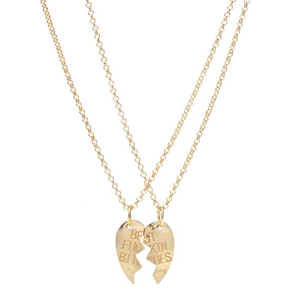 Best Fuckin' Bitches Necklace Set