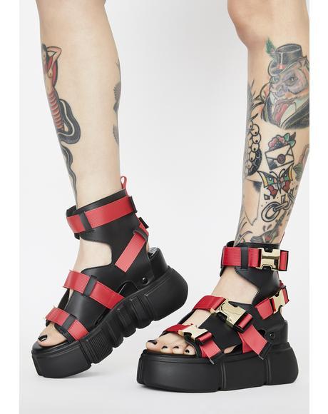 Cranberry Platform Sandals