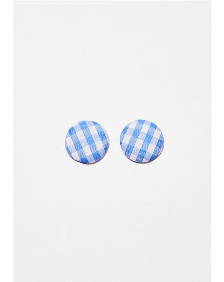 Makin' Memories Gingham Earrings