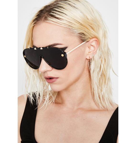 Dark Ready To Takeoff Aviator Sunglasses