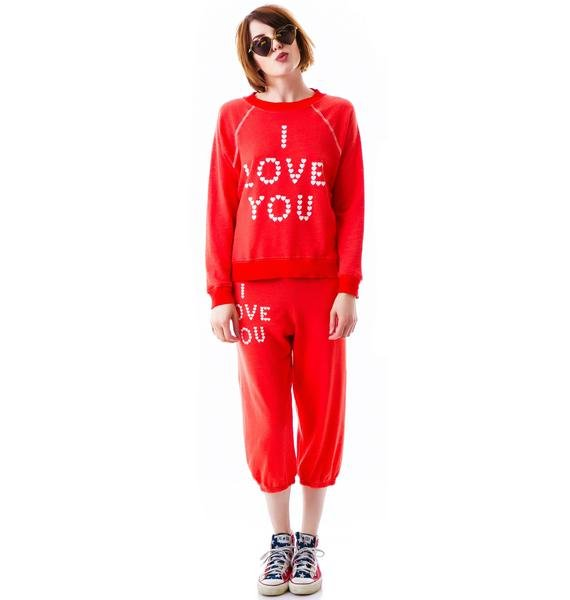 Wildfox Couture Little Heart Spell Kim's Sweater