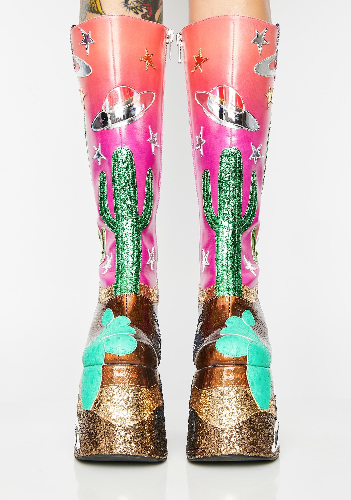 Club Exx Astro Valley Platform Boots