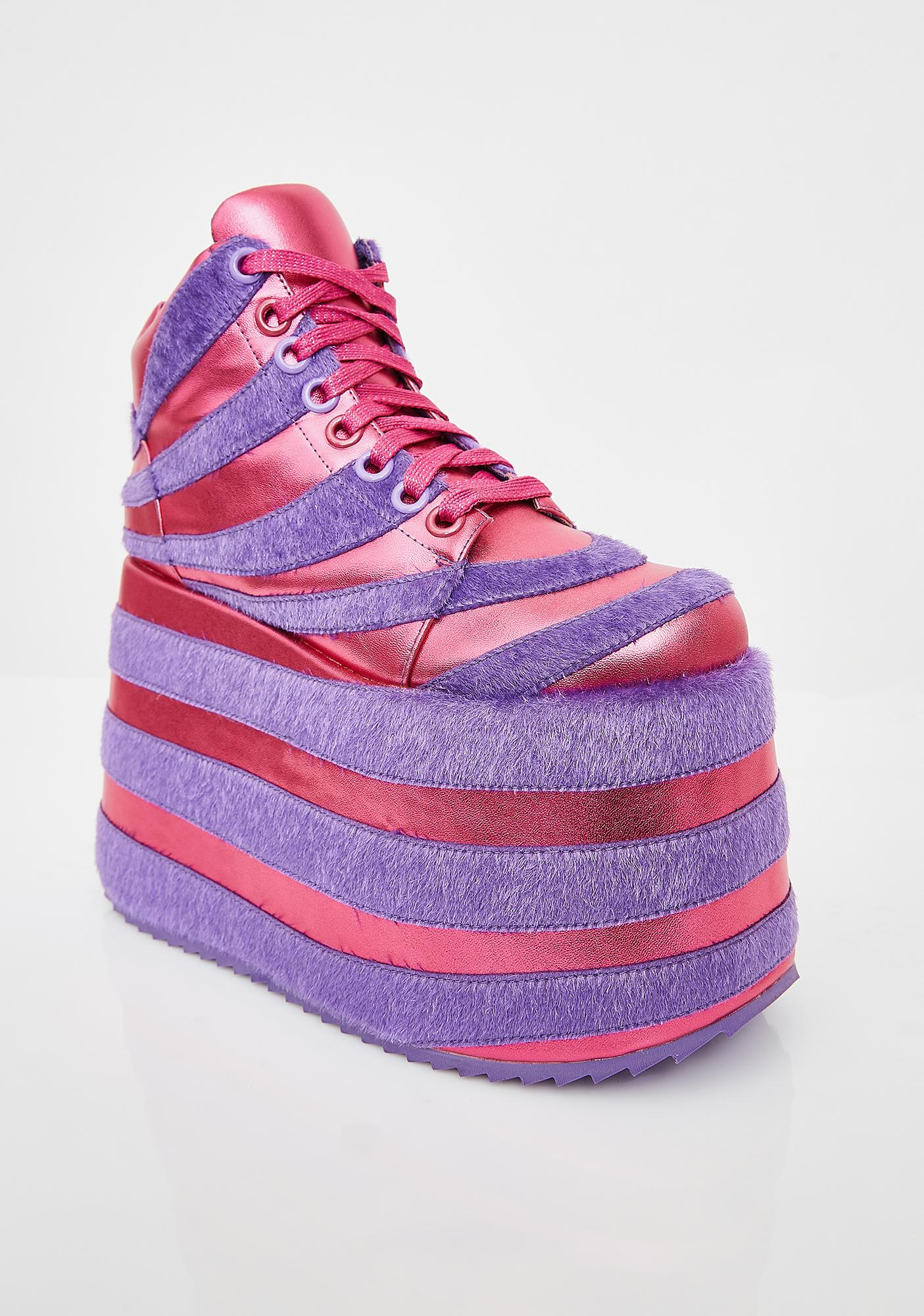 Club Exx Rave Kitty Platform Sneakers