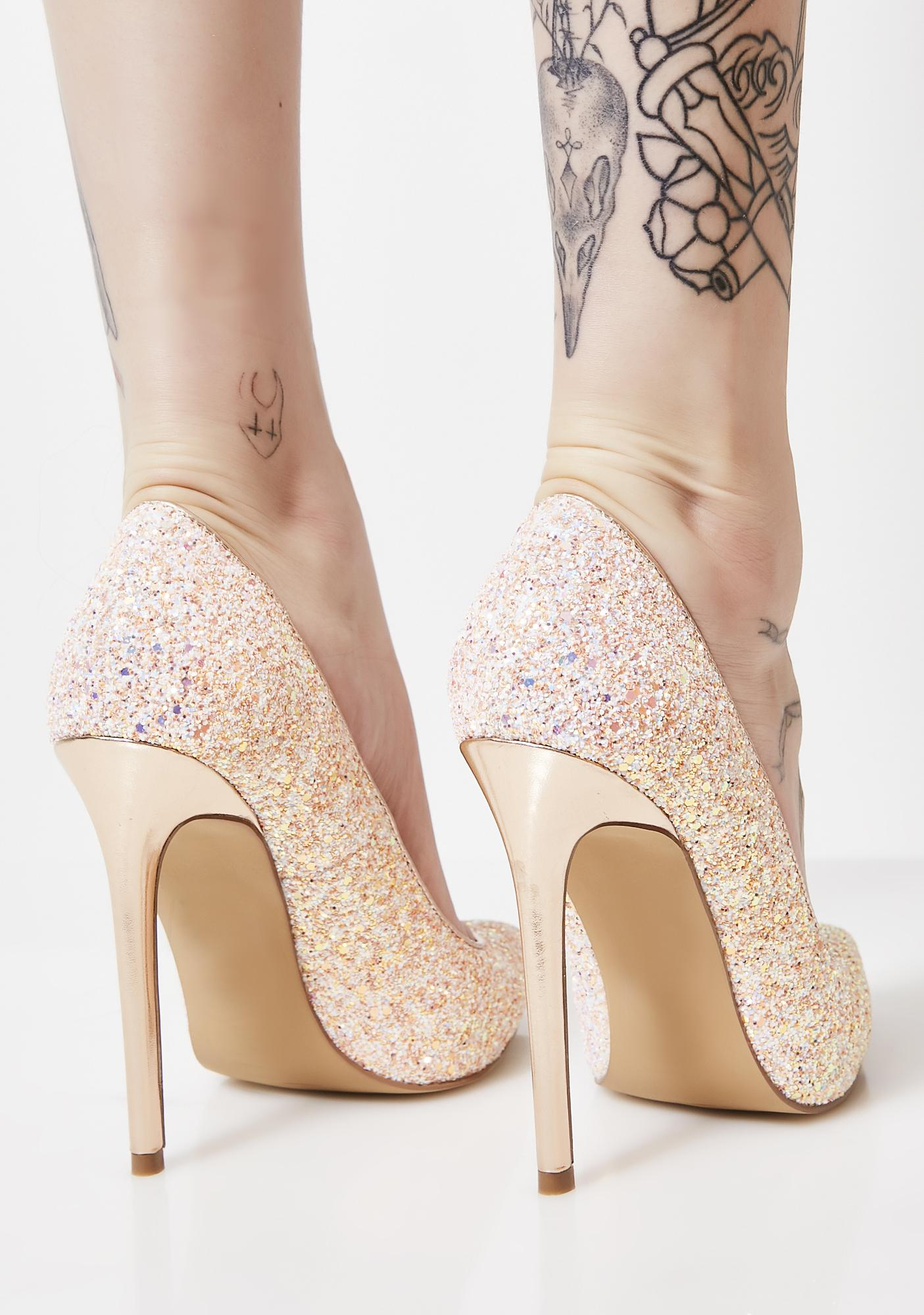 Blush Night Sky Glitter Heels