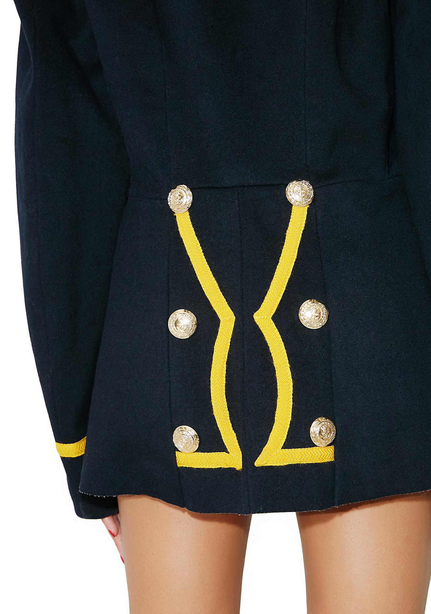 Vintage Collared Military Jacket