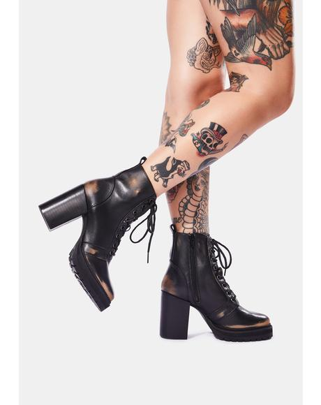 Rivet Lace Up Boots