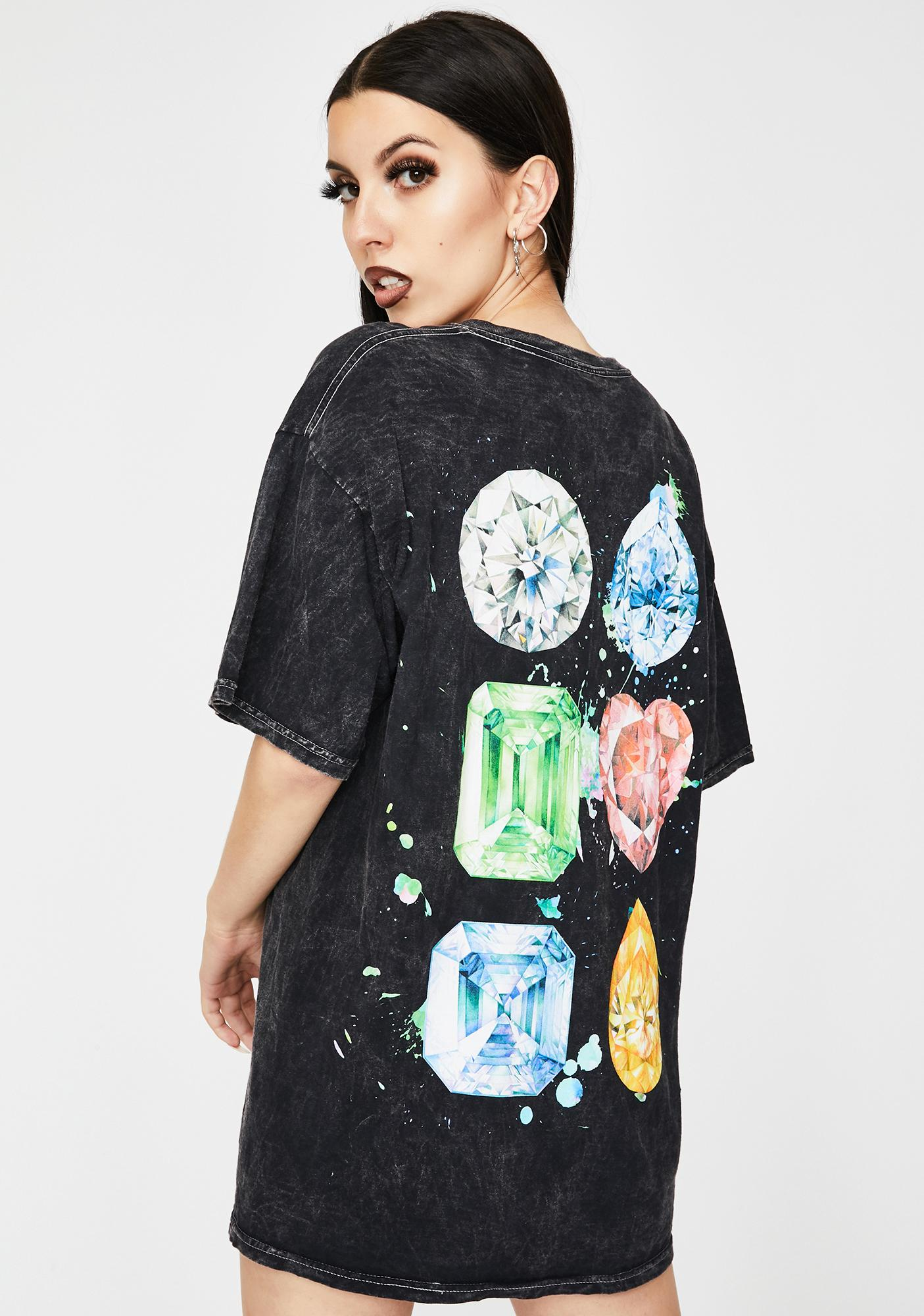 Diamond Supply Co Splash Sign Mineral Wash Graphic Tee