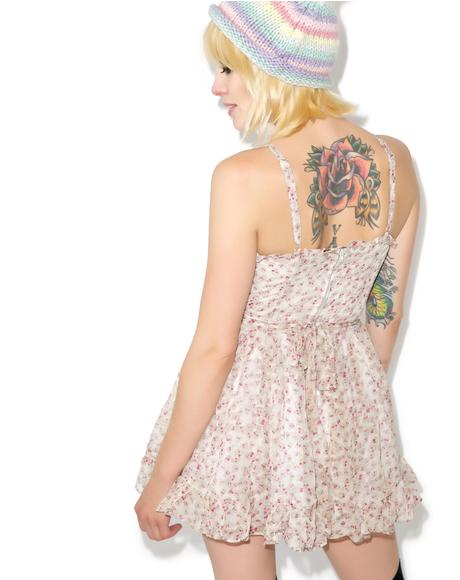Sookie Skull Chiffon Dress