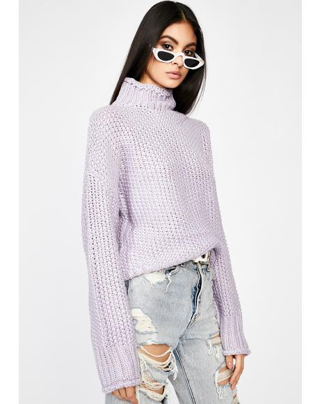 Grape Corrupt N' Chill Knit Sweater