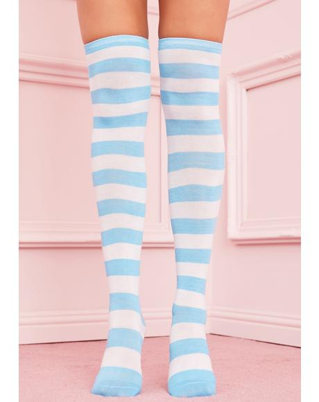 Be My Boo Striped Socks