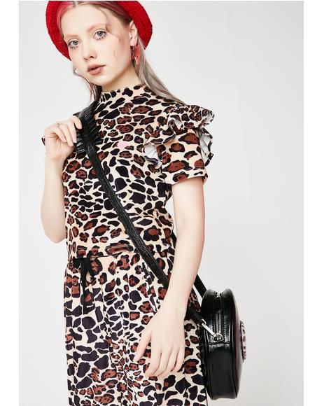 Leopard Print Velour Tee
