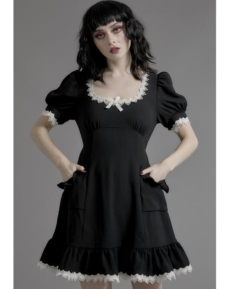 Porcelain Gaze Babydoll Dress