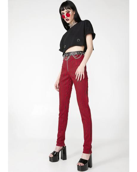Fire Pinstripe Jolim Trousers