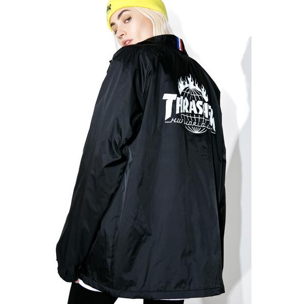 HUF X Thrasher Coaches Jacket