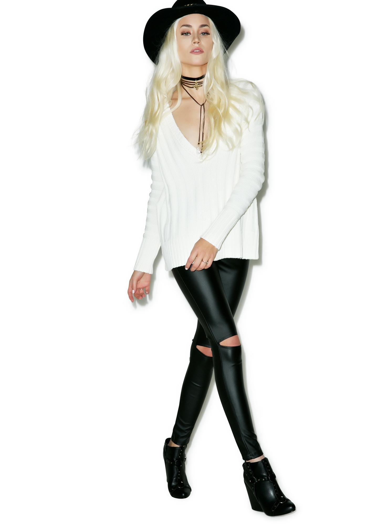 For Love & Lemons Ashley Raglan Sweater