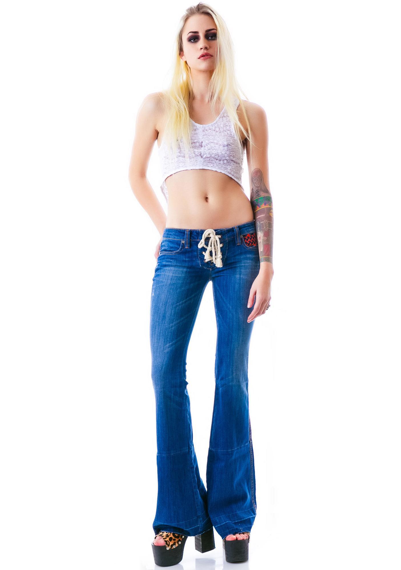 Frankie B Silverstein Flare Jeans