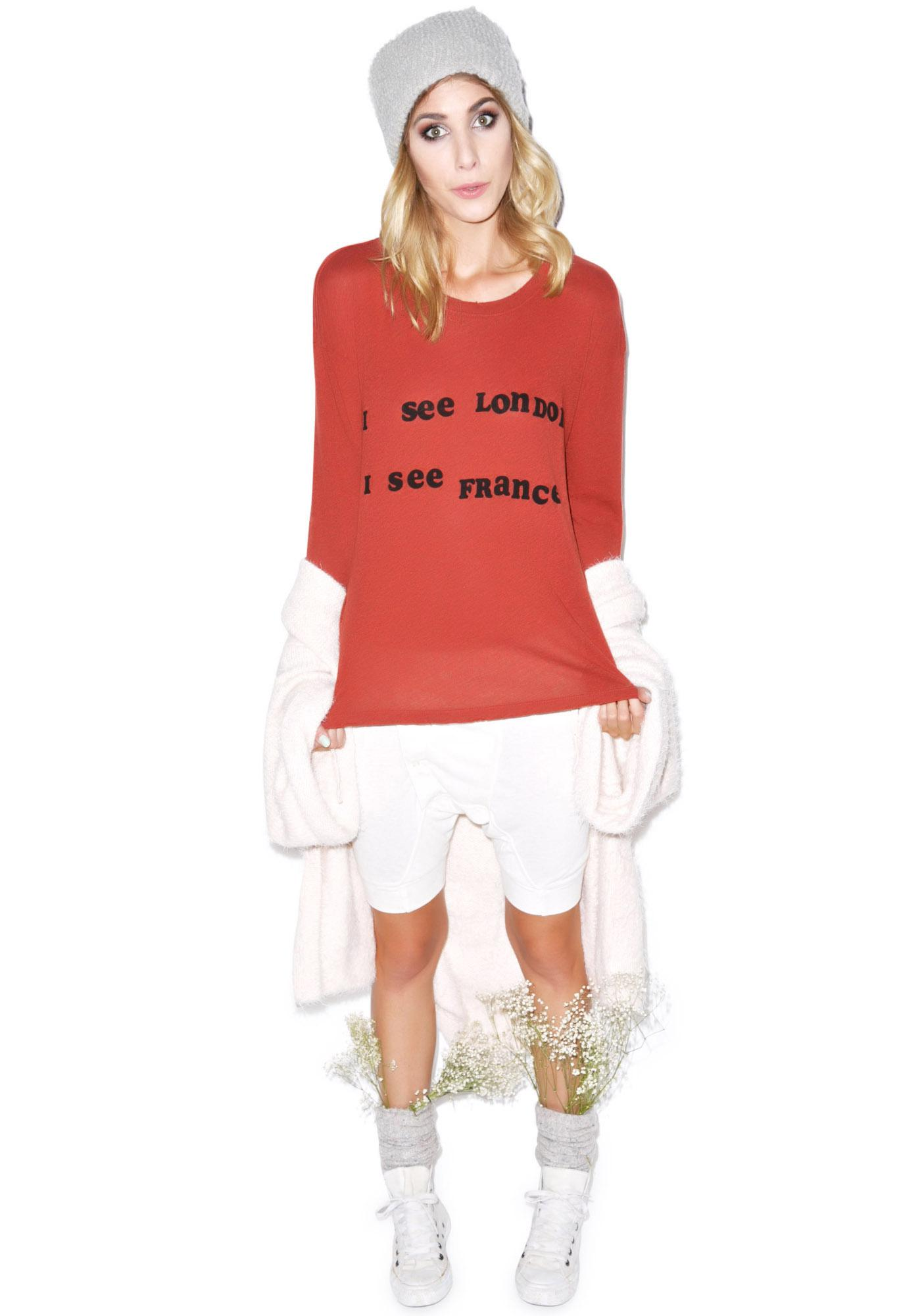 Wildfox Couture Off To Europe Walk Of Shame Tee
