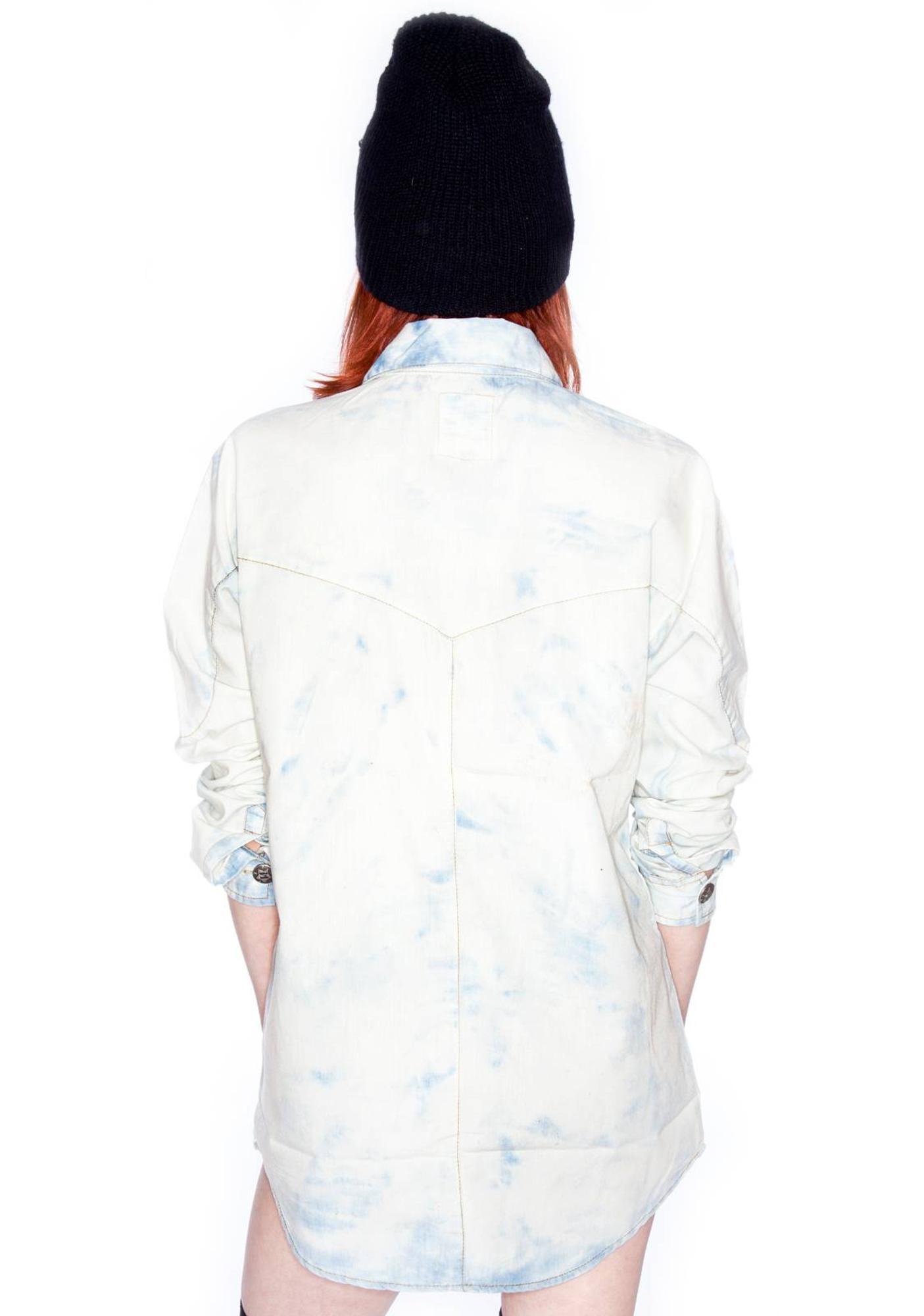 One Teaspoon Resist Chambray Oversized Shirt