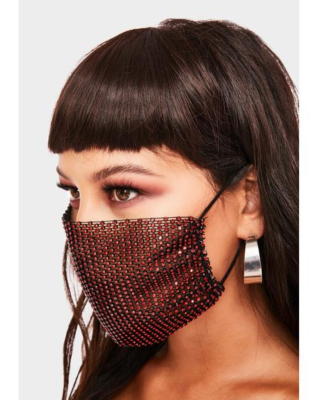 Keep It Classy Rhinestone Face Mask