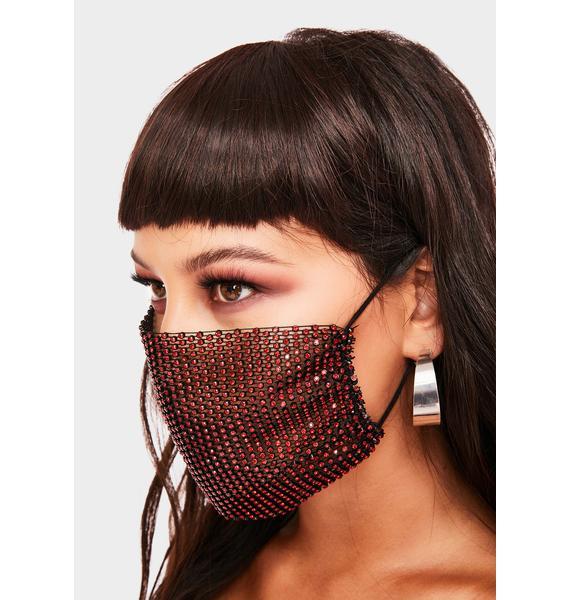 Keep It Classy Rhinestone Face Mask
