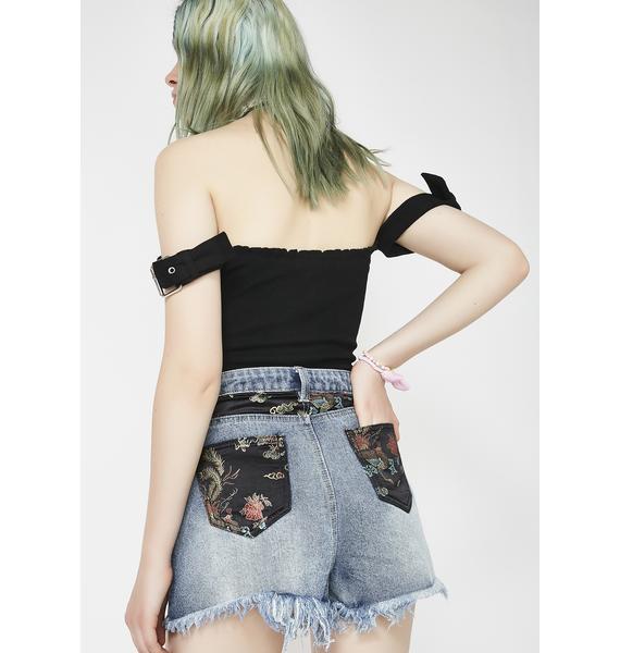 Twiin China Doll Denim Shorts