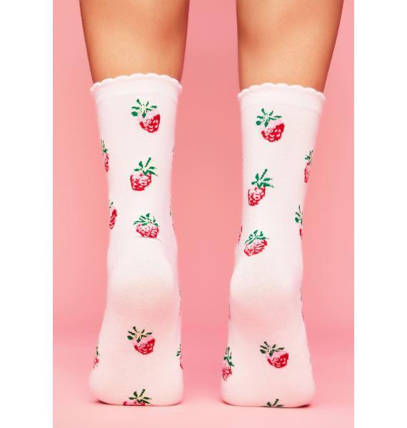 Bundle Of Luv Strawberry Socks