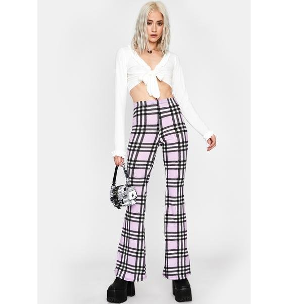 Lilac Typical Temptations Plaid Flares