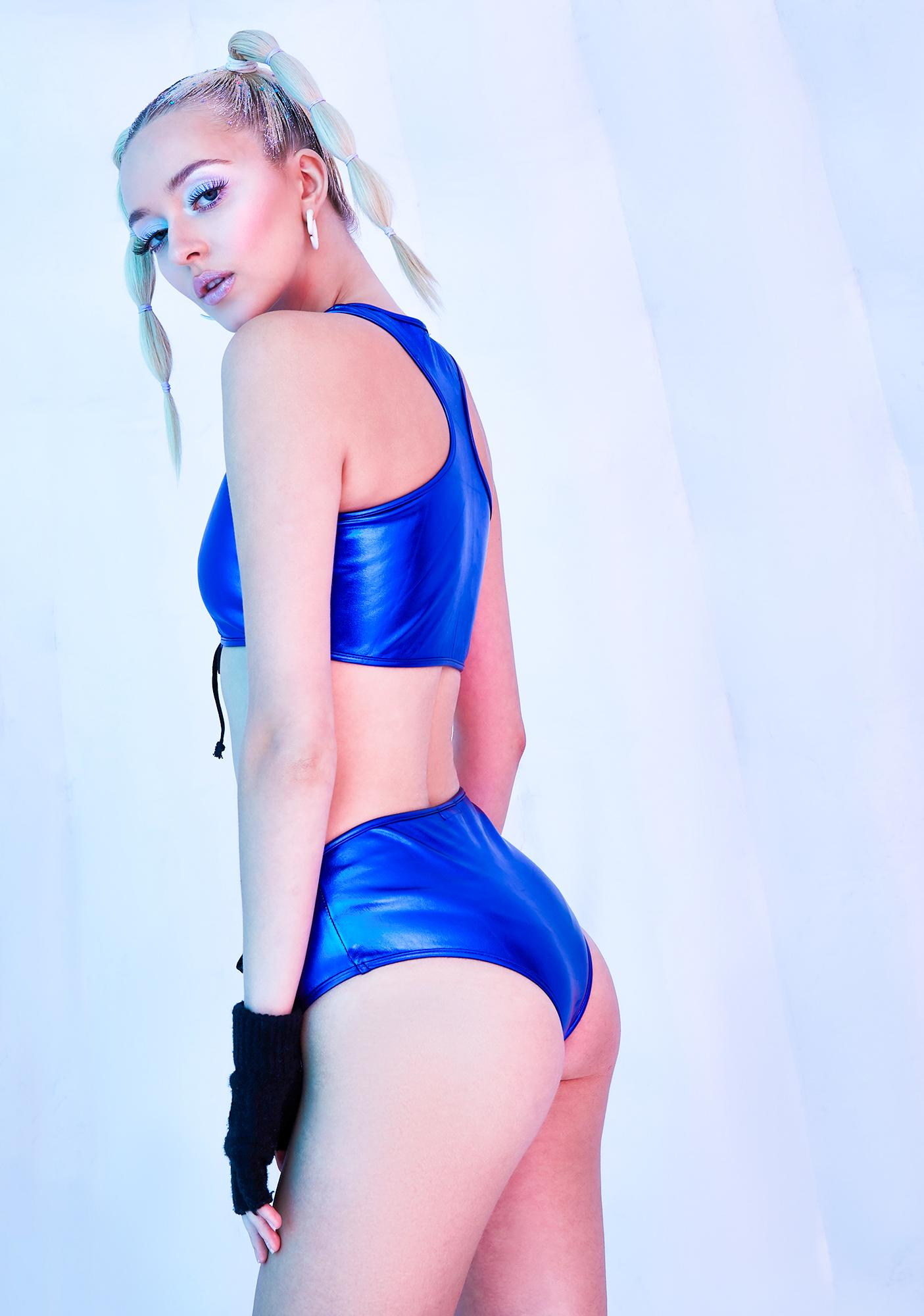 Club Exx Ambient Avalanche Metallic Booty Shorts