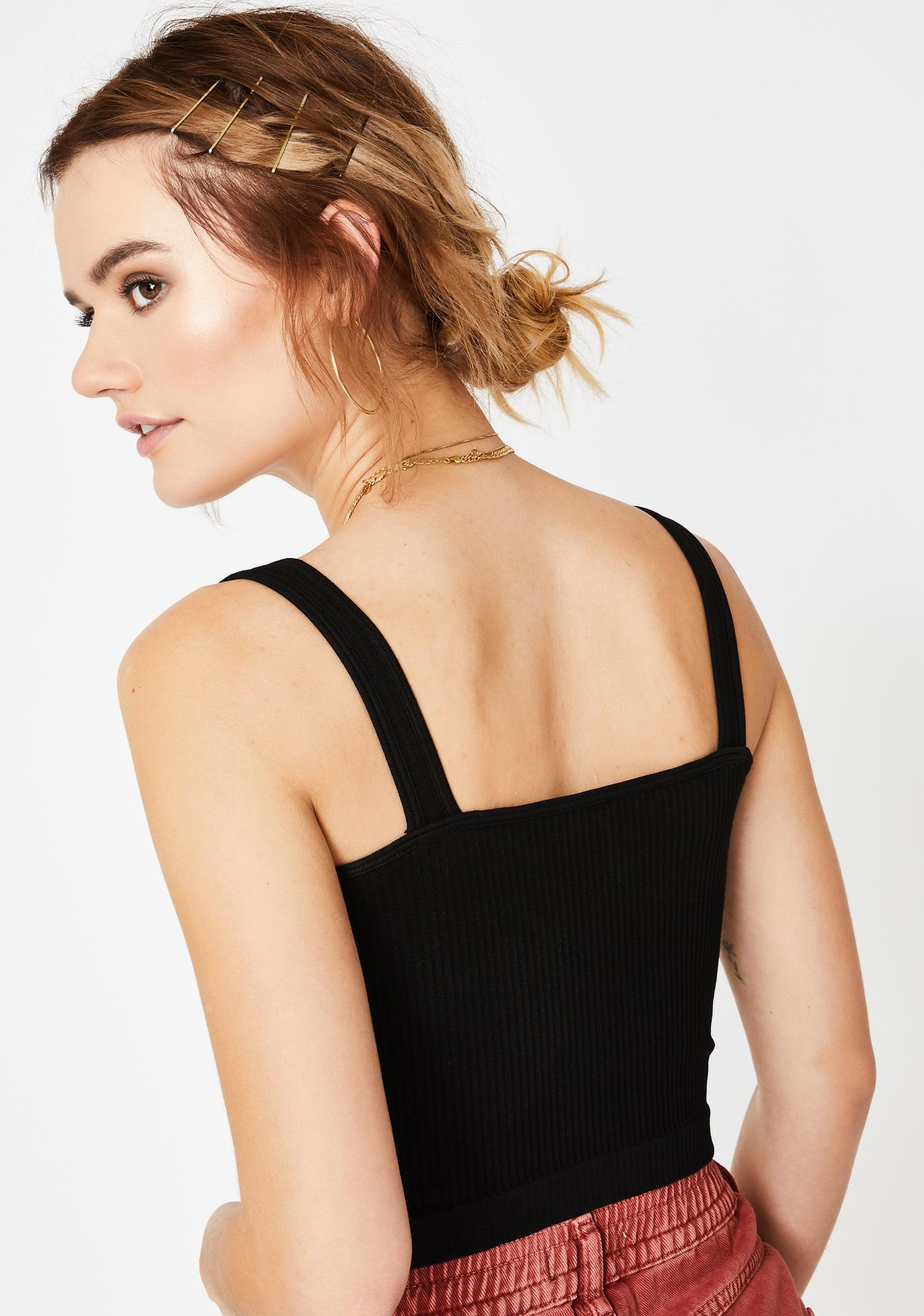 Free People Solid Ribbed Tank Top