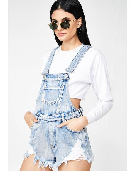Cool Points Denim Shortalls