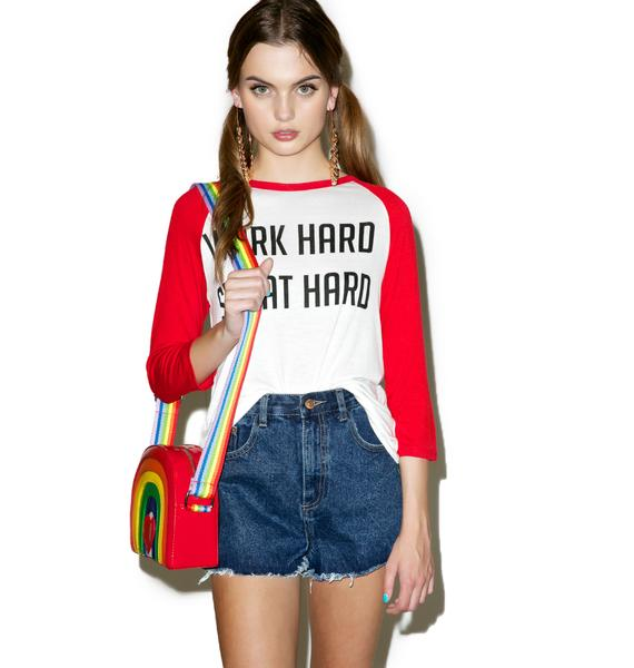Work Hard Sweat Hard Raglan