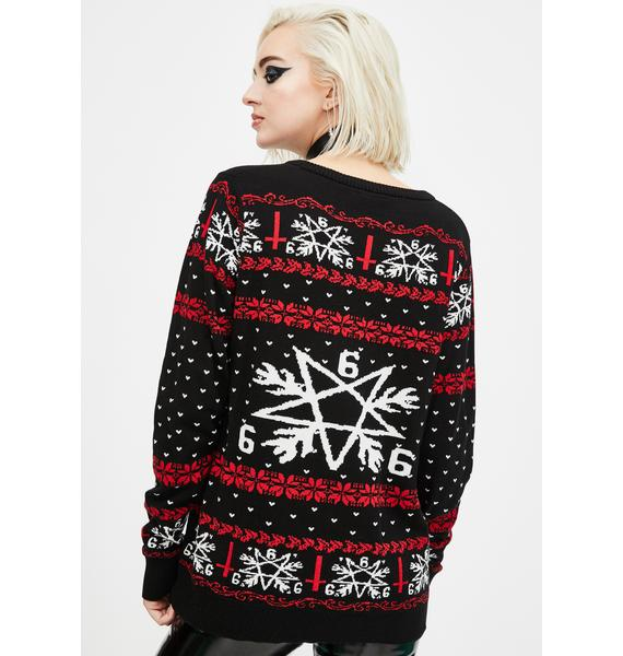 Too Fast Hail Santa Christmas Sweater