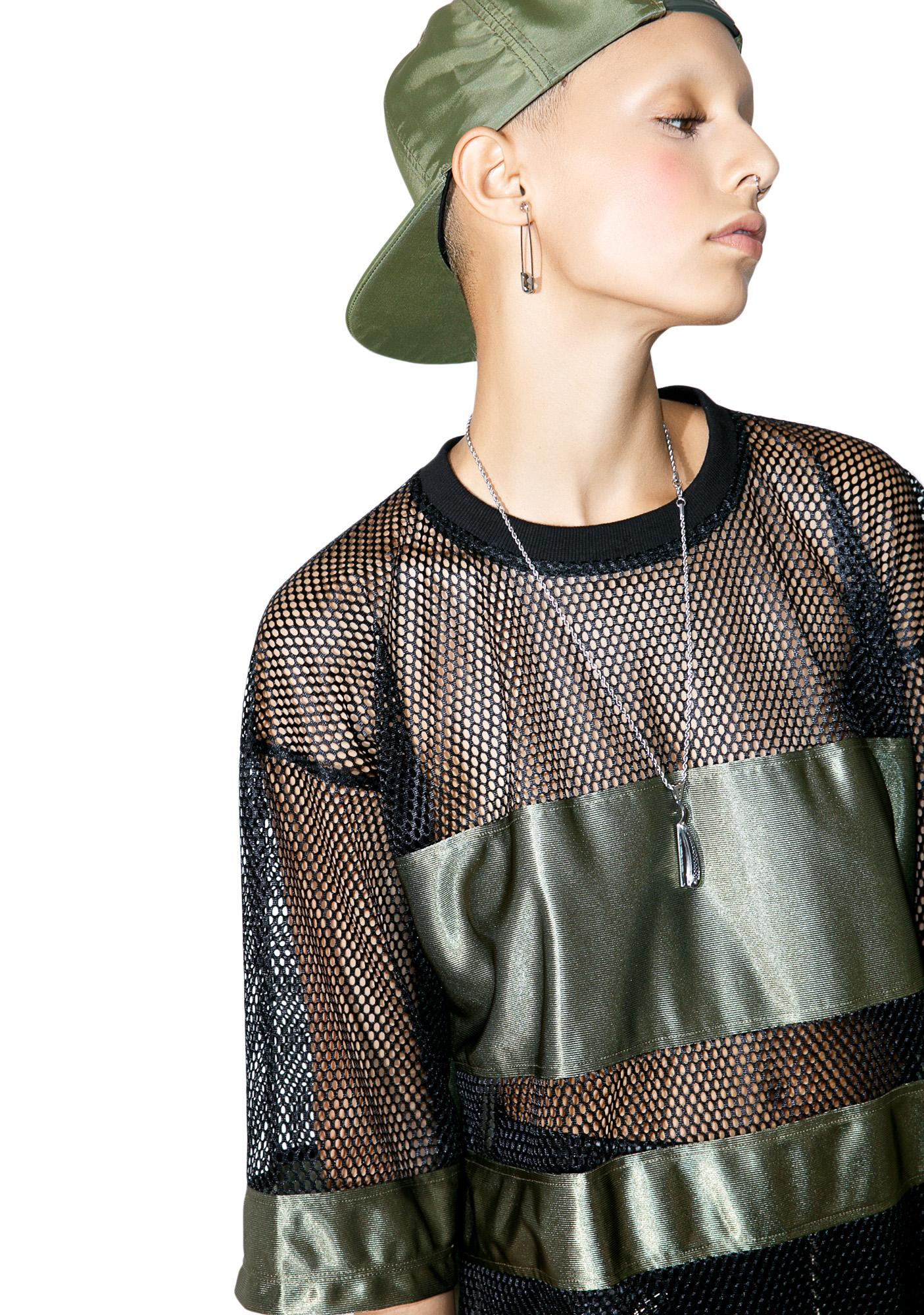 This Is A Love Song Mesh Jersey Top