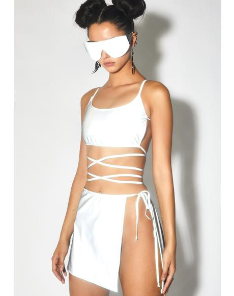 Beta Breaker Reflective Wrap Skirt
