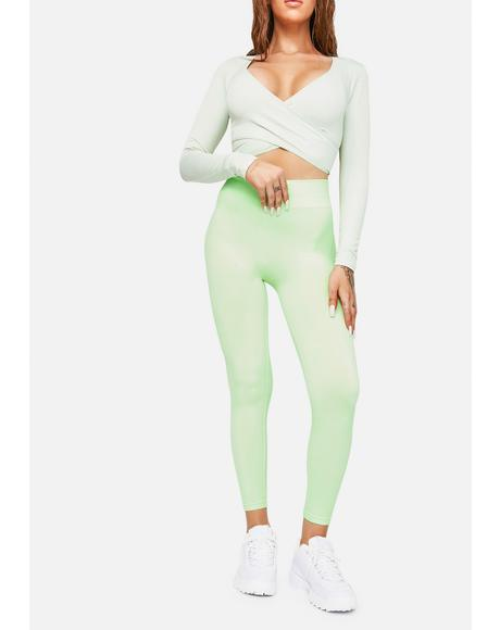Mint Pick The Pace High Waist Leggings