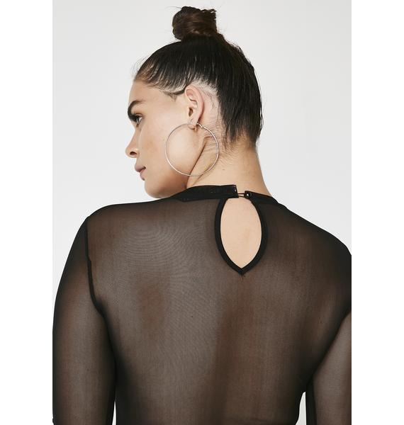 Feelin Naughty Lace Overlay Bodysuit