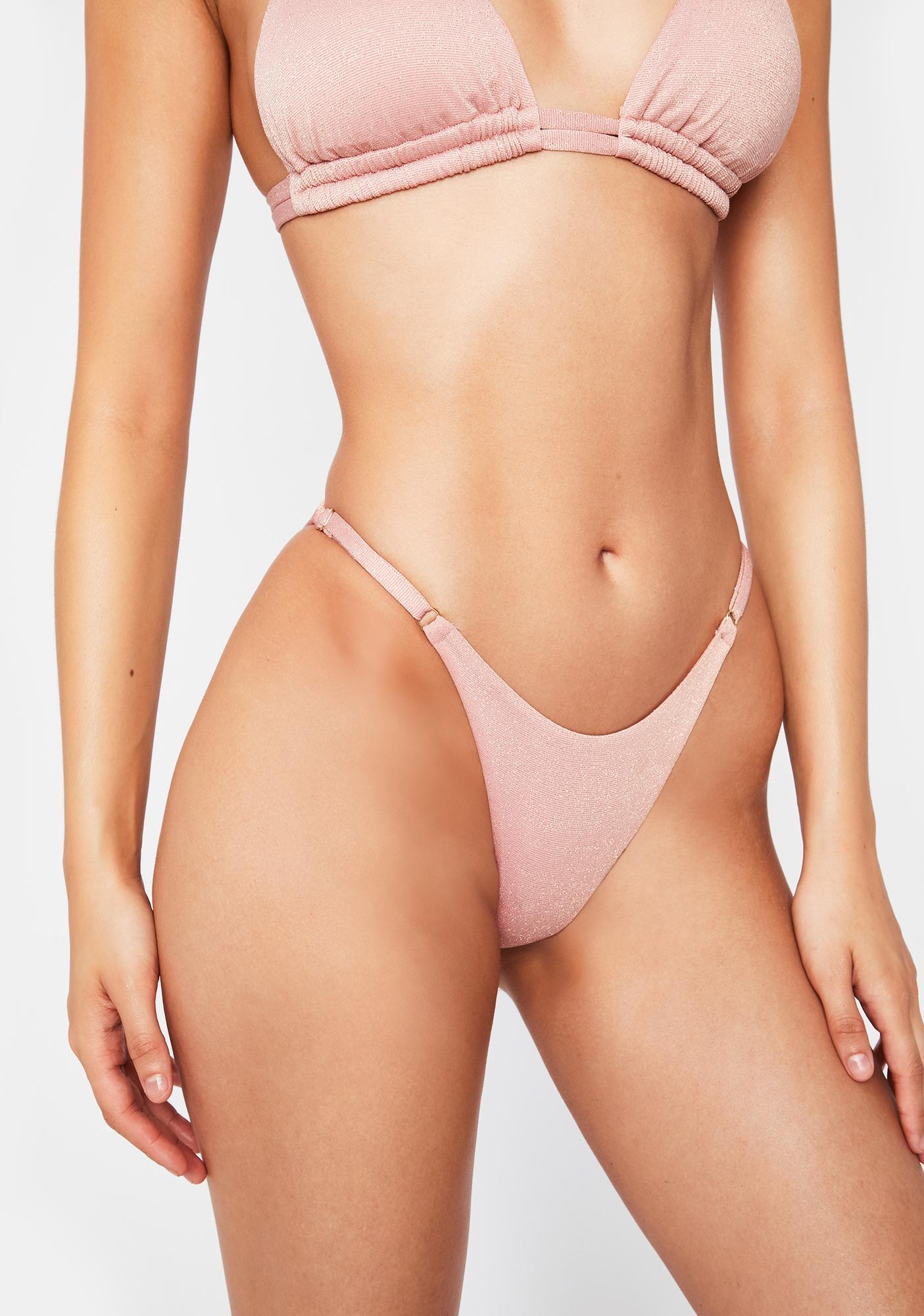 Power 2 the Flower  Pink Bianca Skimpy Bikini Bottoms