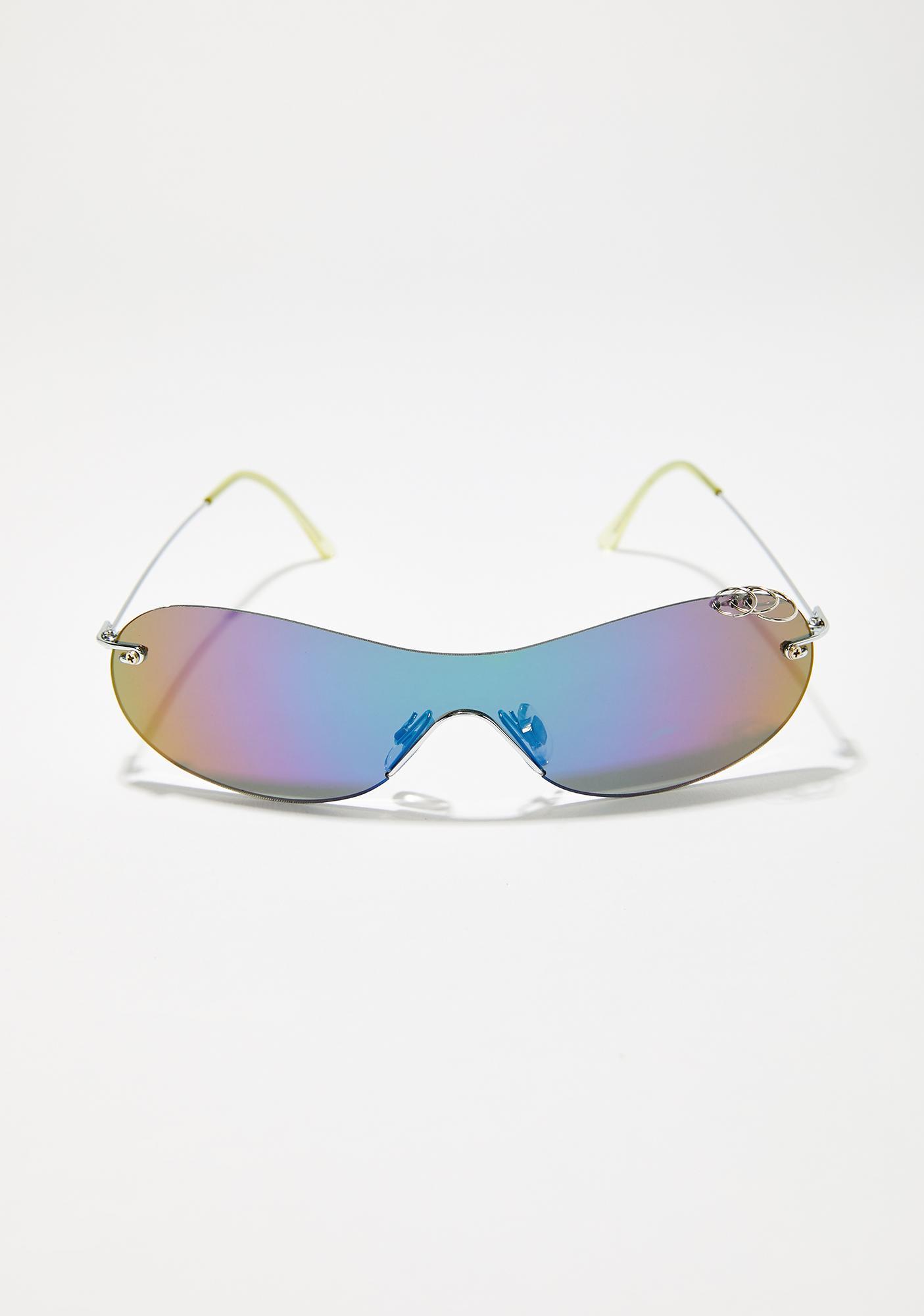 Backin' It Up Shield Sunglasses