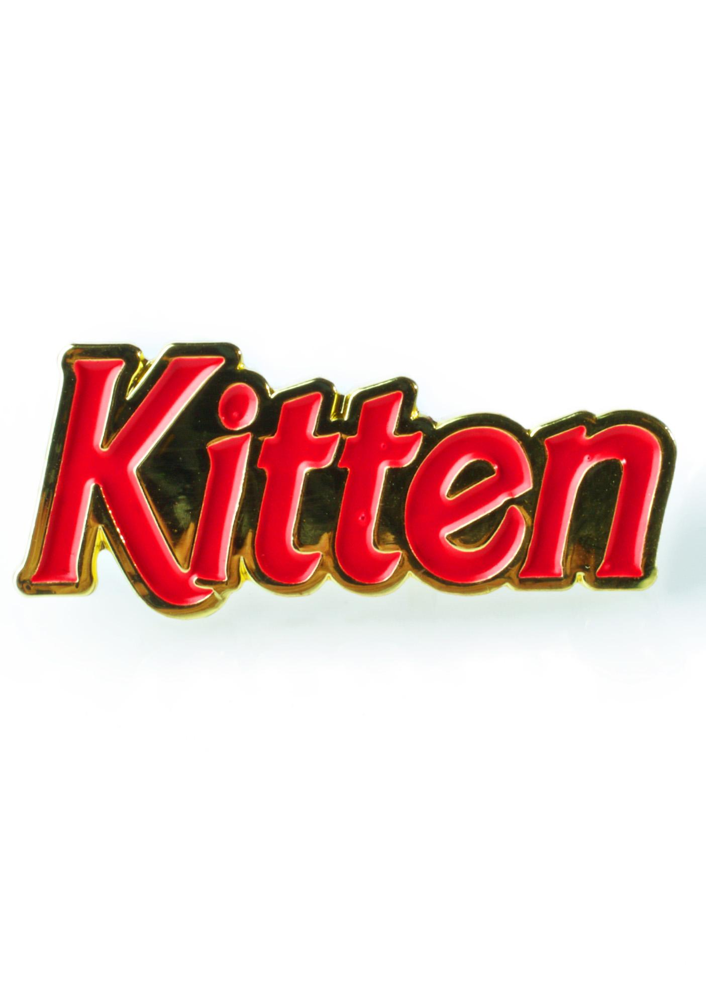 Laser Kitten 90s Kitten Pin
