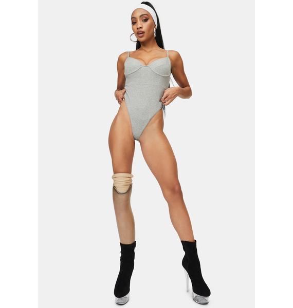 4TH & RECKLESS Grey Hallie Bodysuit