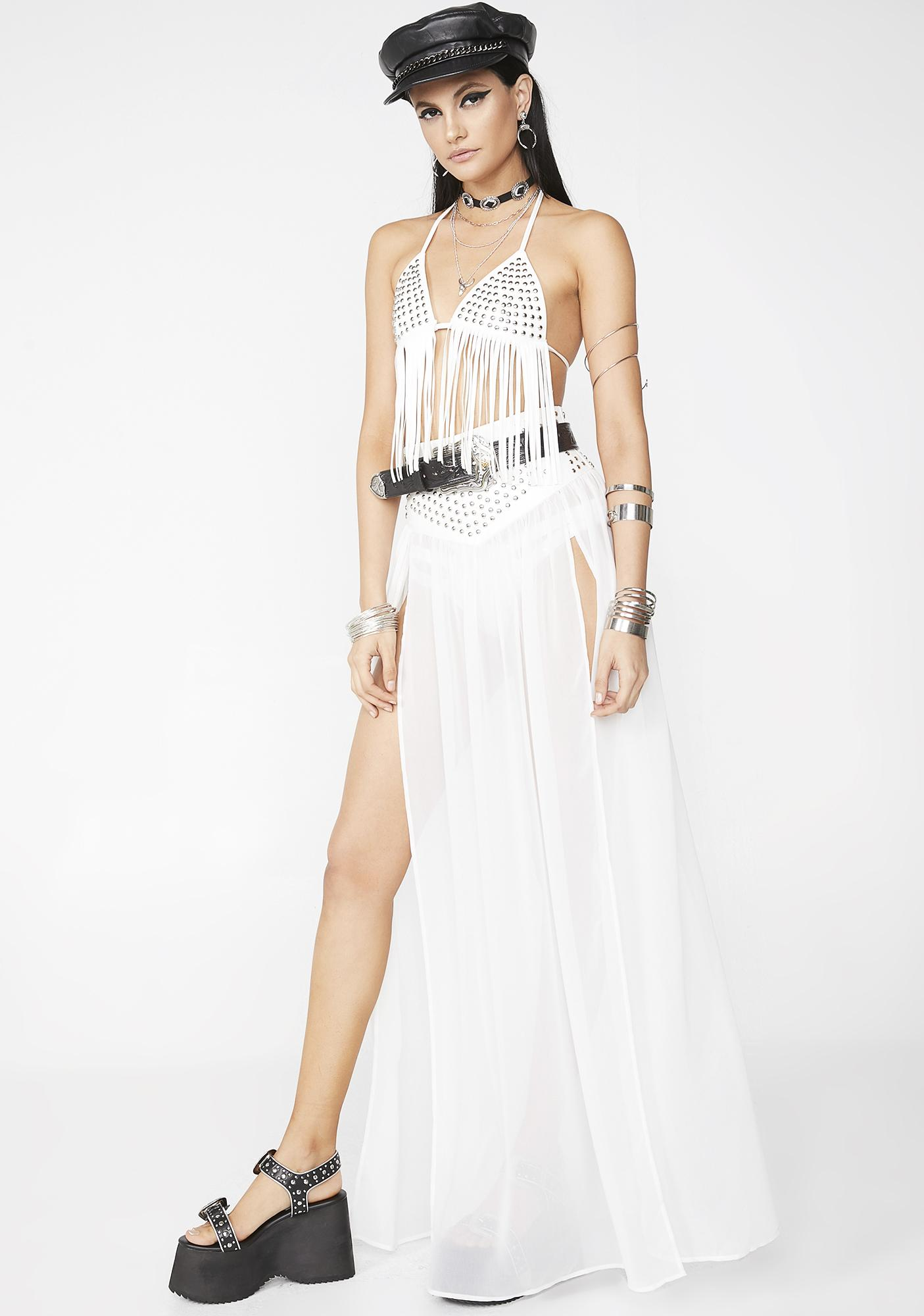 Club Exx Pure Jailhouse Rock Maxi Skirt