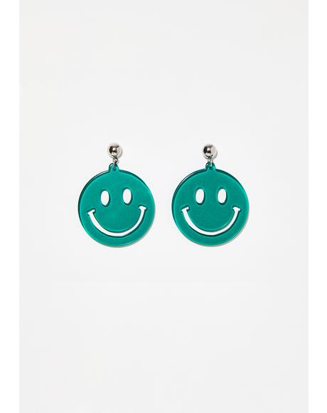Cheesin Smiley Earrings