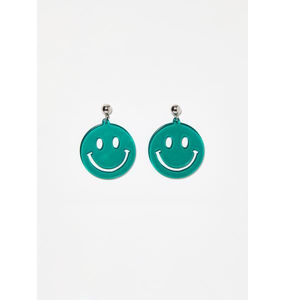 Cheesin Smiley Earrings