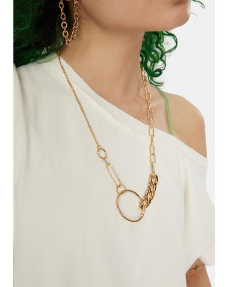 Do It Like Me O-Ring Chain Necklace